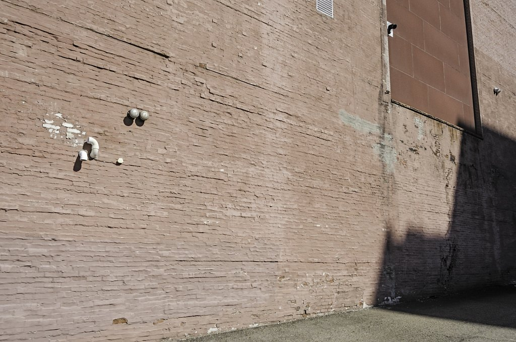 Red Wall with Shadow